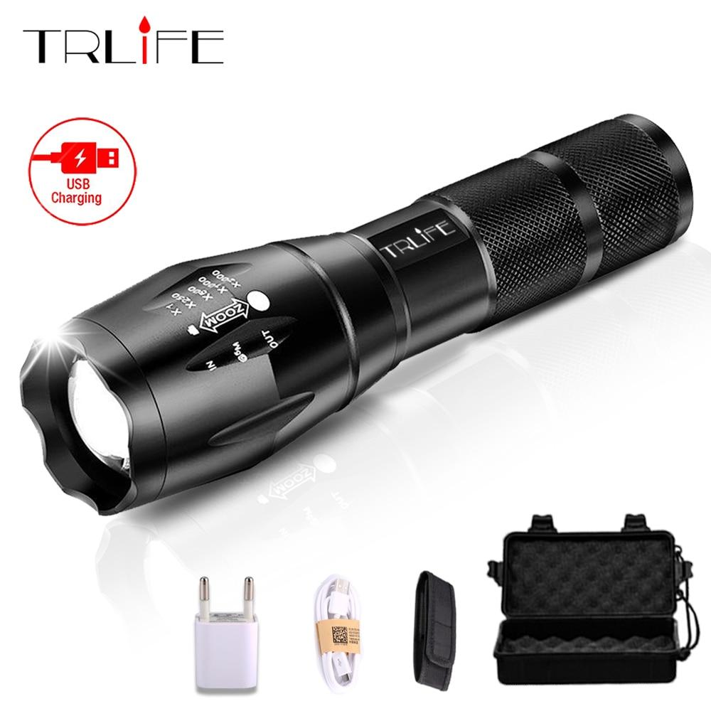 USB Taschenlampe 10000 Lumen Lanterna X900 LED L2/T6 Taktische Taschenlampe Zoomable-led-taschenlampe High Power Wiederaufladbare Led Taschenlampen Lampe