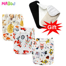 MABOJ Cloth Diapers Baby Pocket Cloth Diaper One Size Waterproof Nappy Reusable Cloth Nappies Set Washable Wholesale New [mumsbest] big size children cloth nappies with microfiber insert child pocket diaper reusable cloth diapers for 2 6 years old