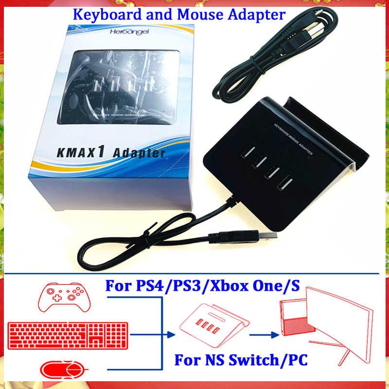 2019 KMAX1 Adaptor Keyboard dan Mouse Nirkabel Converter (untuk PS4/PS3/XBOX 360/Xbox Satu/Nintendo Switch/ pc) konsol Game