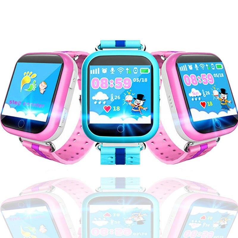 GPS montre connectée Q750 Q100 Enfants montre connectée avec 1.54 pouces écran tactile SOS Appel dispositif de localisation Tracker pour Enfant Sécurité