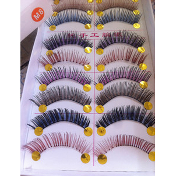 10pair Black Thick False Eyelashes Makeup Soft Fake Eye Lashes Beauty Women Cosmetic Tools With Traditional Methods False Eyelashes