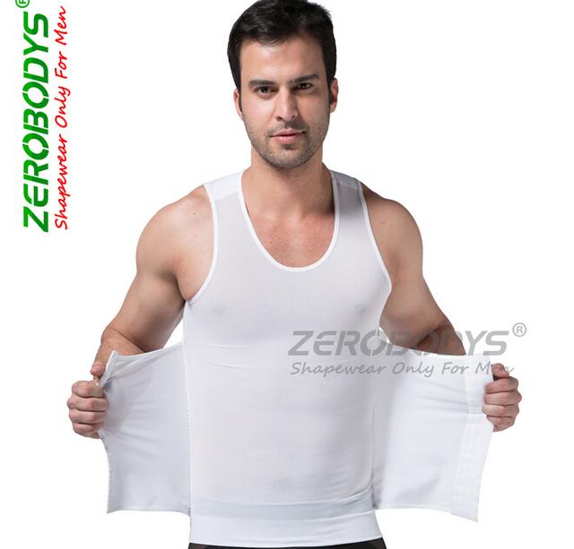 Marca homens colete shaper do corpo com Alta powernet elástica bandas de cintura corpo abdômen emagrecimento calças spandex apertado material-300g