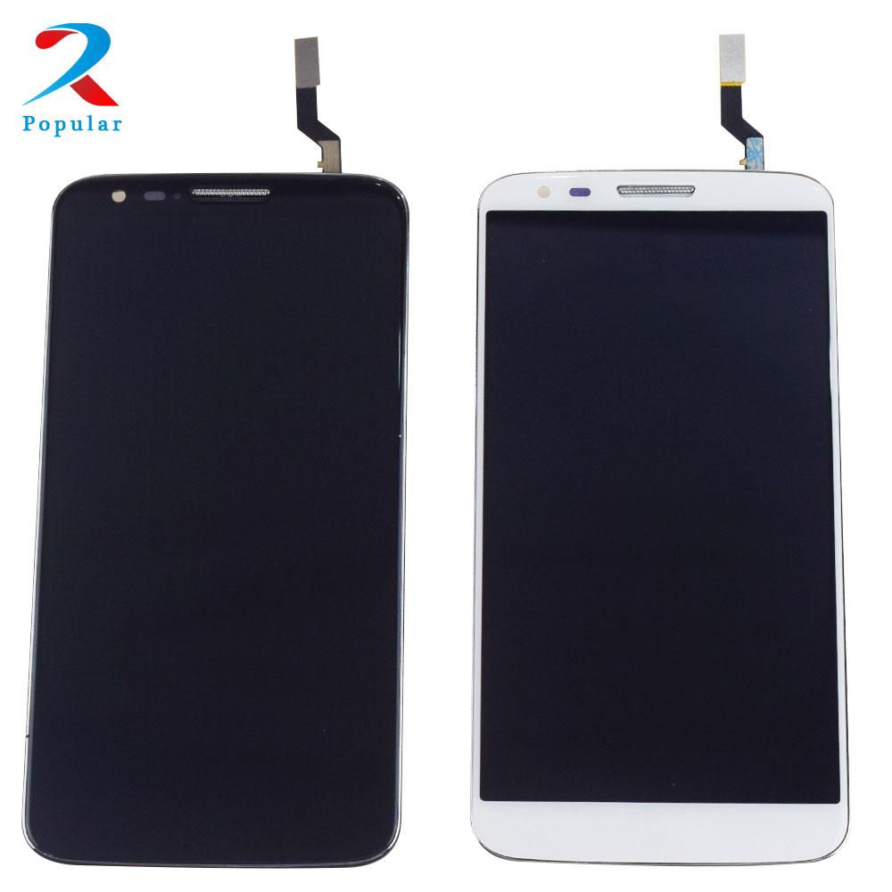 Para LG Optimus G2 D800 D801 pantalla LCD Panel de pantalla módulo Monitor + digitalizador de pantalla táctil de vidrio Sensor Assembly + marco