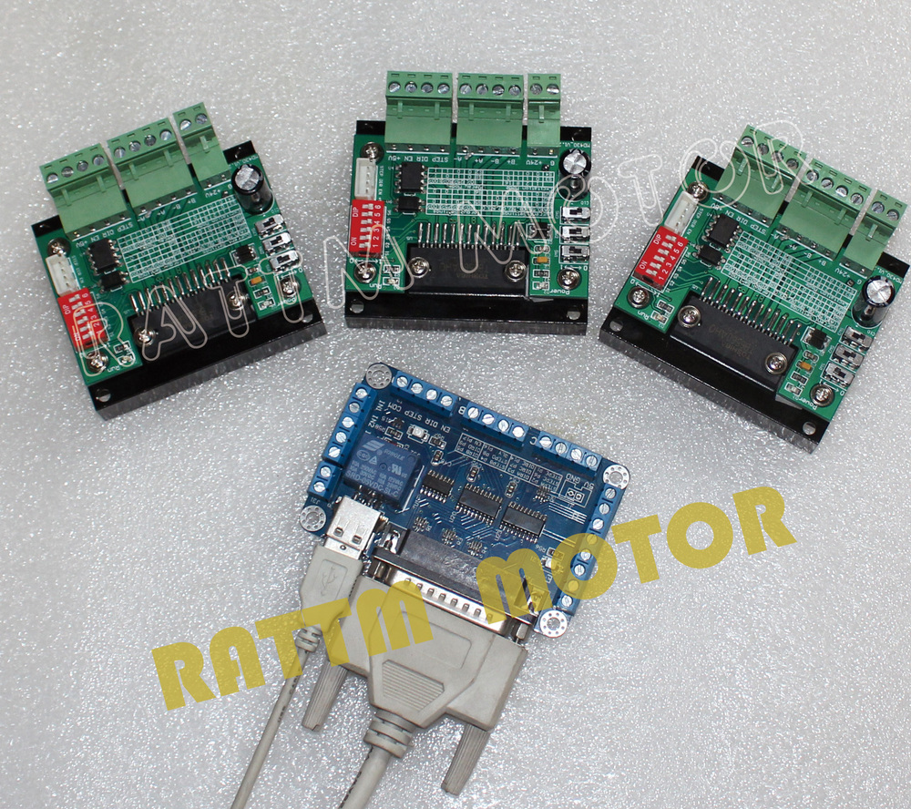 3PCS 3.5A TB6560 Single Axis CNC Stepper Motor Driver 16 Microstep & 5 axis CNC Breakout board interface V5 type MACH/EMC2/KCAM4 new high quality cnc 3 axis tb6560 stepper motor driver board control pad lcd set hy tb3 kh