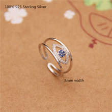100% 925 Sterling Silver Fashion Zircon Rings Women Oppen Ring for Personality Jewelry