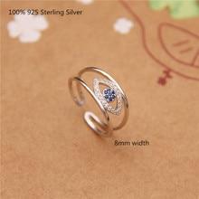 100% 925 Sterling Silver Fashion Zircon Rings Women Oppen Ring for Women Fashion Personality Jewelry 2019 fashion 100