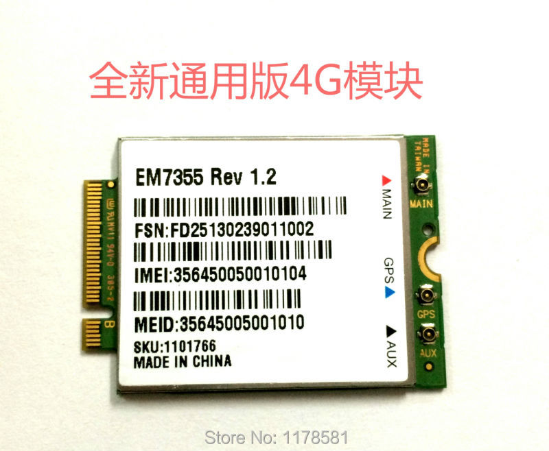 Sierra Wireless EM7355 GOBI5000 3G/4G LTE Module NGFF 4G Card new unlock sierra wireless gobi5000 em7355 lte evdo hspa 42mbps ngff card 4g module for hp lt4111 wwan 704030 001 wcdma card