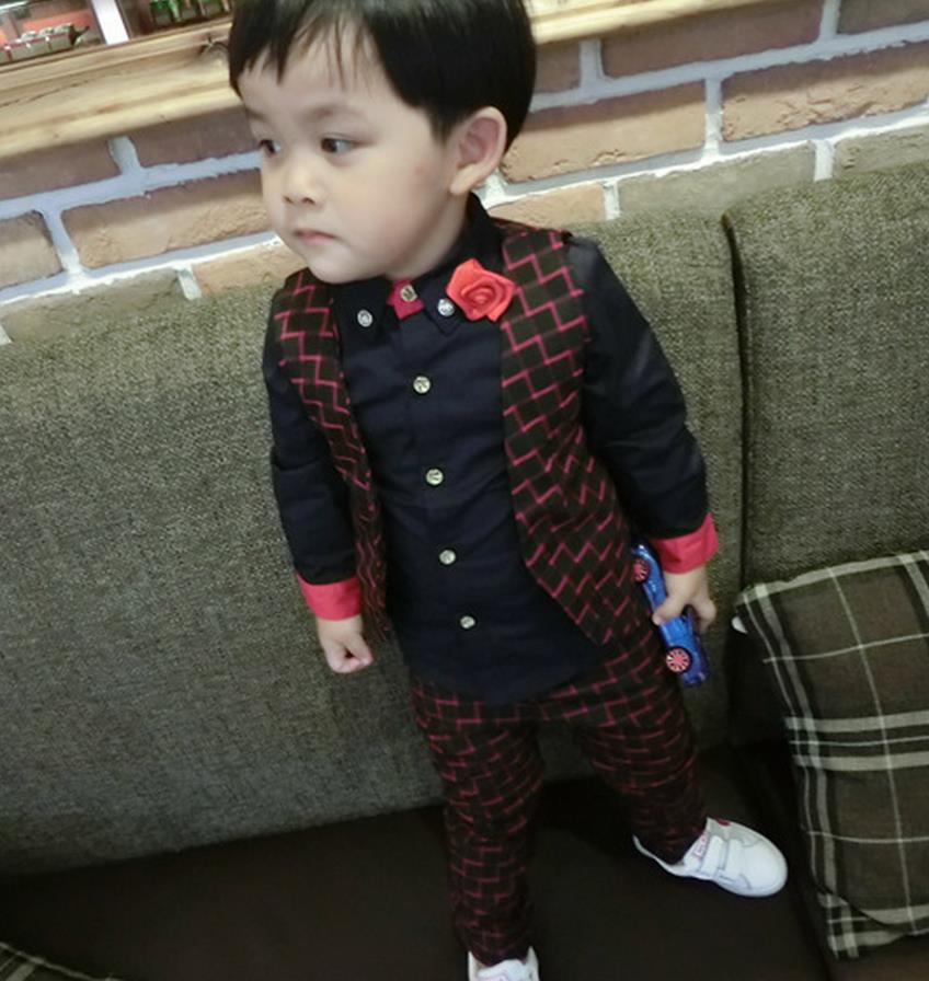 Children Boy Clothes Sets Gentleman Suit Toddler Boys Vest+Pants Sets Kids  Christmas Outfits tracksuit weddings formal clothing-in Clothing Sets from  Mother ... - Children Boy Clothes Sets Gentleman Suit Toddler Boys Vest+Pants