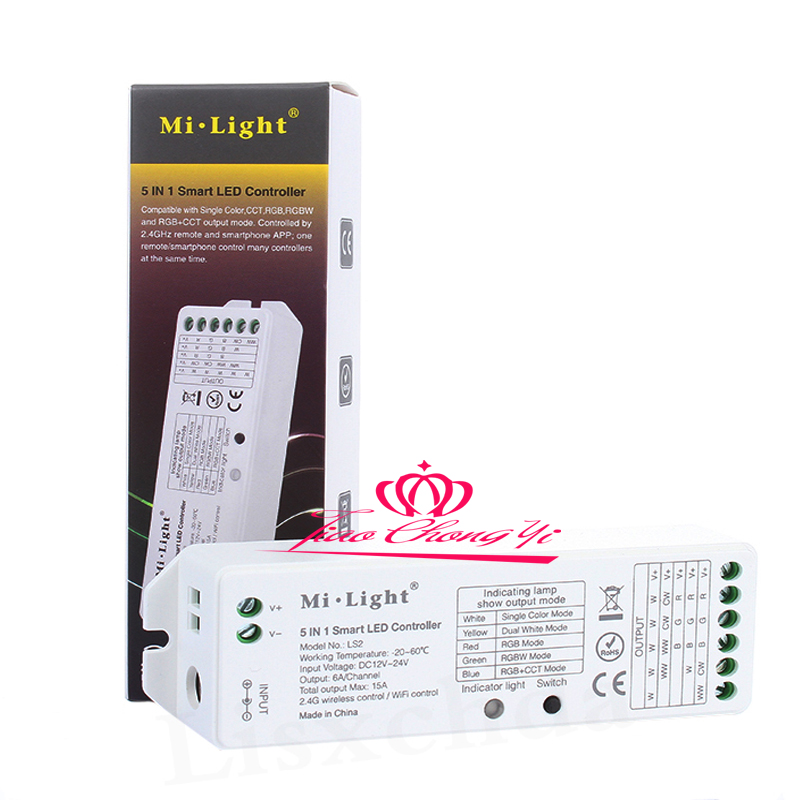 Portable Lighting Accessories Mi.light Ls2 15a Dc12-24v Led Controller 5 In 1 Wireless Controller For Single Color,cct Rgbw Rgb+cct Led Strip Lihgt Diversified In Packaging