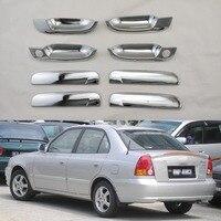 Para hyundai accent verna brio lc 1999-2005 de alta qualidade porta alças tigela capa abs plástico cromado chapeamento