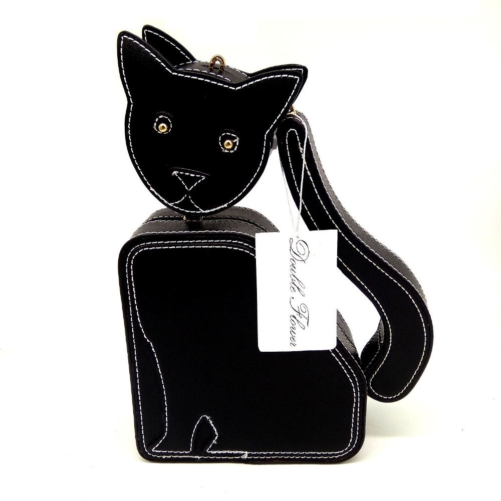 3d94e589a24 Lovely Cute Black Cat Shape Women Casual Crossbody Bag Fashion Day Clutches  Chain Shoulder Handbag and Purse-in Shoulder Bags from Luggage & Bags on ...