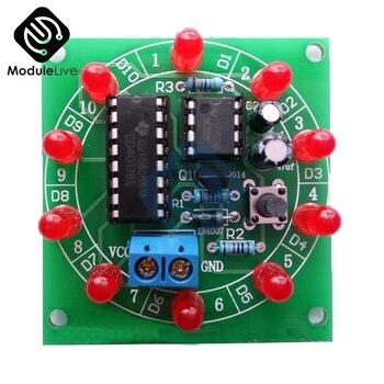 NE555-Rueda de la fortuna CD4017, Kit de bricaje electrónico artesanal, producción electrónica, elementos de Suite rotativa Lucky, 3,5-6V