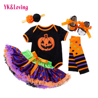 Newborn Girl Clothes Baby Set Halloween Pumpkin Skirt+baby Socks+baby Shoes Baby Girl Clothes Autumn Clothing Set YK&Loving