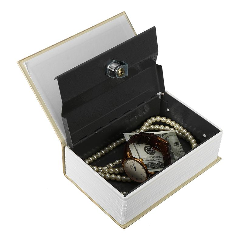 Safe Lock Cash Money Coin Storage Jewellery Key Locker For Kid Gift Mini Safe Box Book Money Hidden Secret Security