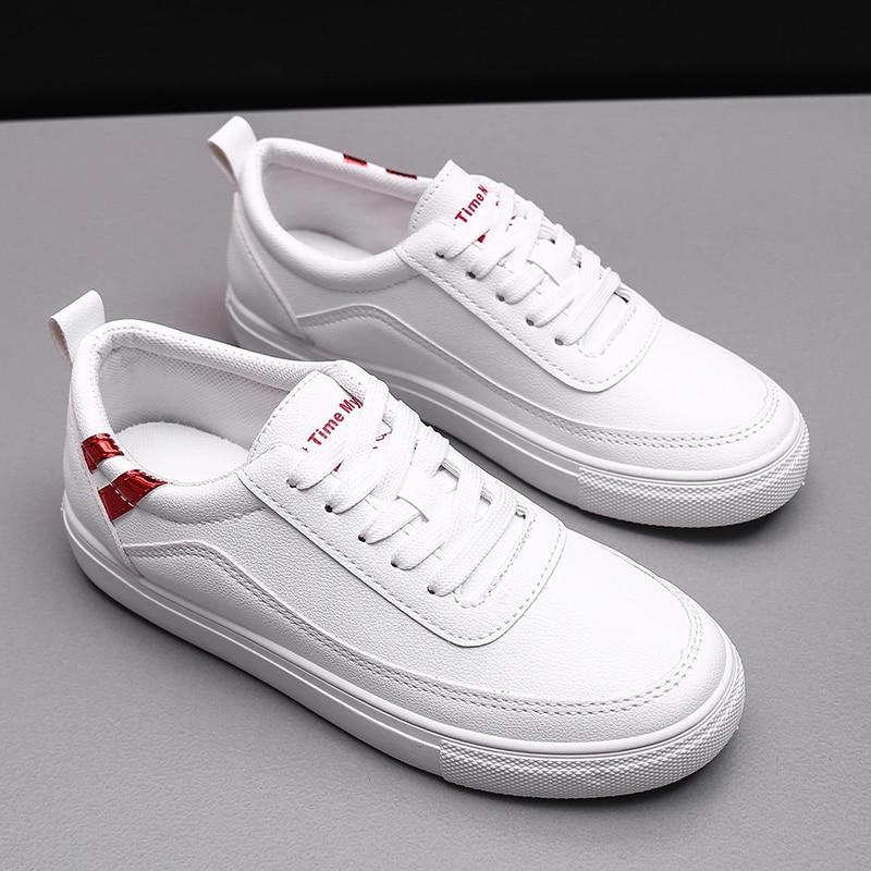 Spring/Autumn White Shoes Women 2018 New Flat Casual Women Skateboard Shoes 4