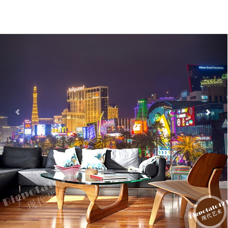 Aliexpress.com: Compre Sob Encomenda Da Foto Papel De Parede, 3d Busy Las  Vegas Strip Pintura Mural Da Parede Para O Quarto Sala De Estar TV PVC  Papel De ... Part 16