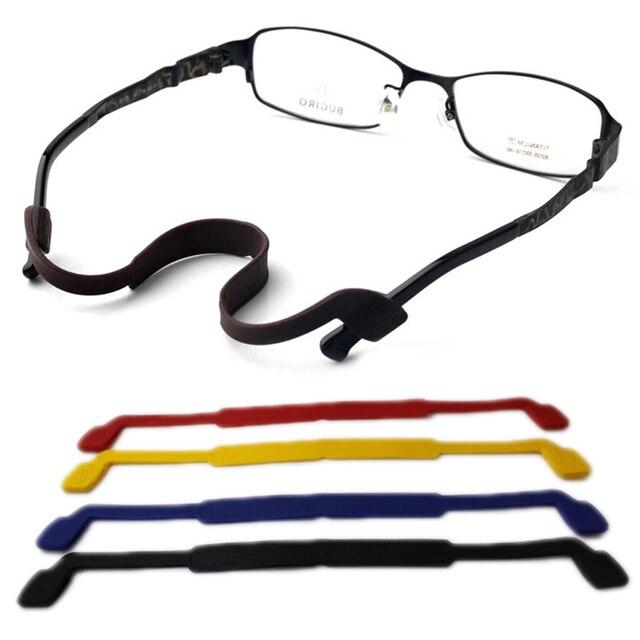 1622f54d15e52 Nova Moda Cordão Cadeia Slip-resistente Óculos Óculos de Sílica Gel ...