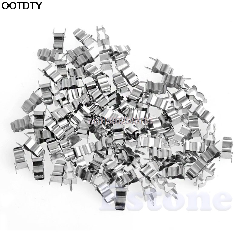 100Pcs 5*20mm Fuse Holder Clips Glass Quick Fast Blow