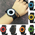 1pc Men Women watches clocks unisex Various Waterproof Casual Military Sports Quartz Wristwatches mini cute round shape hot H4