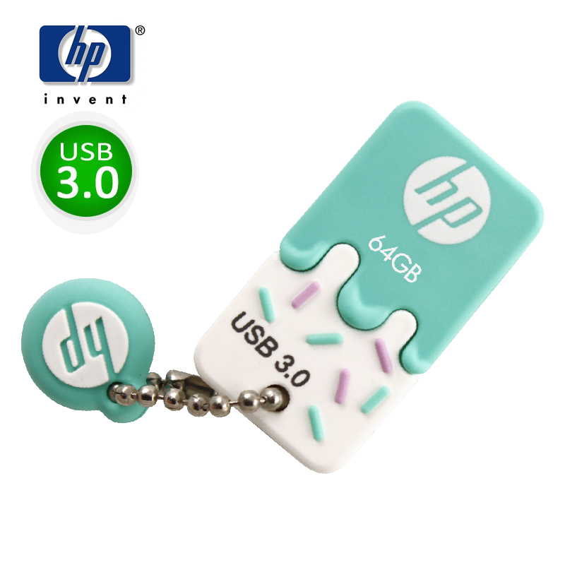 HP USB Flash Drive USB 3.0 64GB Pen Drive car audio usb 32gb Flash Memoria x778w U disk ice cream cle usb memory 64gb pendrive ice cream style usb 2 0 flash drive disk brown white 16gb