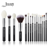 Jessup Brand Black/Silver Professional Makeup Brushes Brush set Beauty Tools Make up Foundation Powder natural synthetic hair