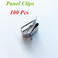 Free Shipping 100Pcs X Solar Panel Clips Project Materials Wire Management For PV Cable 304 Stainless