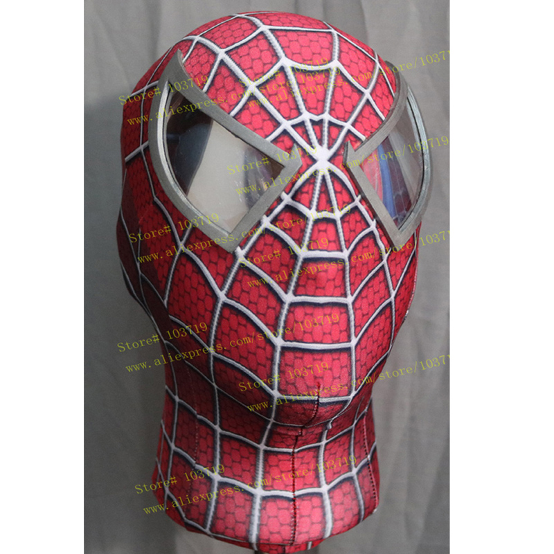 Hero Catcher Super Quality Custom Made Hero Toby Spider-Man Cosplay Mask Elastic Spiderman Mask With Eyes Raimi Spiderman Mask