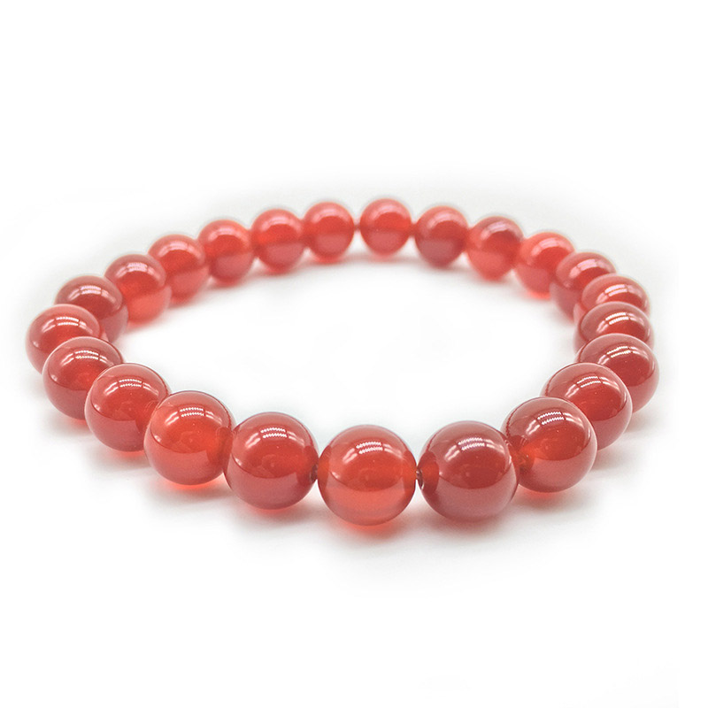 4mm 6mm 8mm 10mm Round agat Coral Beads Natural Stone Orange Red Veins Carnelian crystal Bracelet 18.5cm
