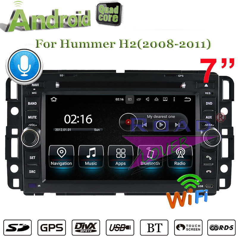 Roadlover 2G+16GB Quad Core Android 7.1 Car DVD Player For Hummer H2 (2008-2011) Stereo GPS Navigation Video Media Center 2Din