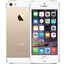 Разблокирована Apple IPhone 5S 16 ГБ 32 ГБ ROM IOS золотой GPS GPRS A7 IPS Восстановленное