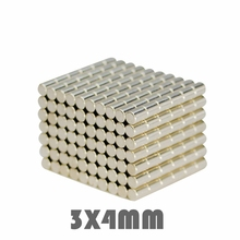50/100/200pcs 3x4mm 3*4mm N35 Neodymium Magnets Super Strong Small Round Nickel Plated Rare Earth Powerful magnet