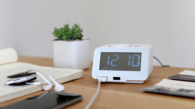 new fashion hometime digital alarm clock home creative led bedroom clock multi usb charger for mobile - Bedroom Clock