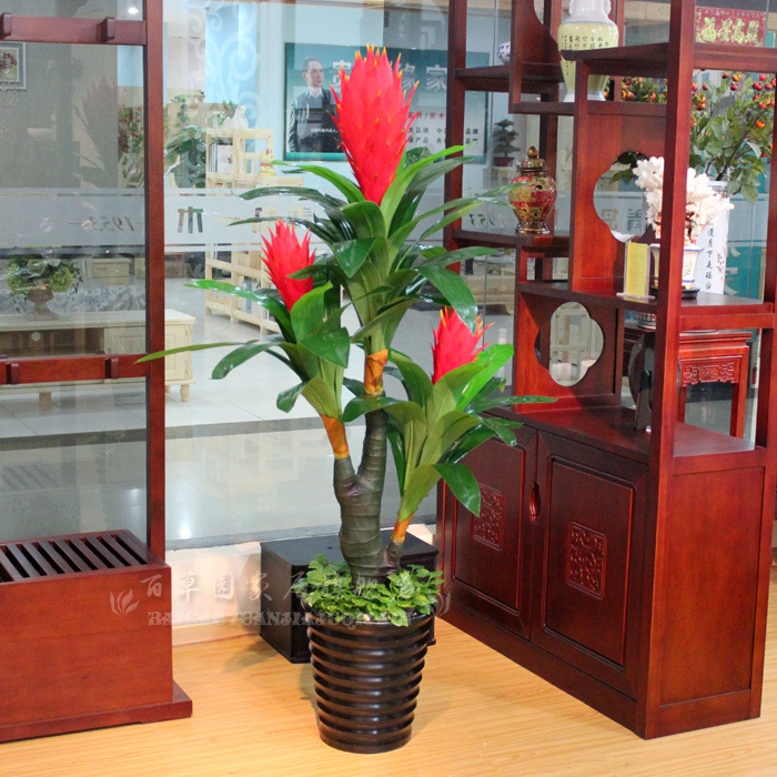 The New Living Room Fake Flowers Artificial Plants Plastic Fake Bonsai Tree  Decorated Three Flower Good ...