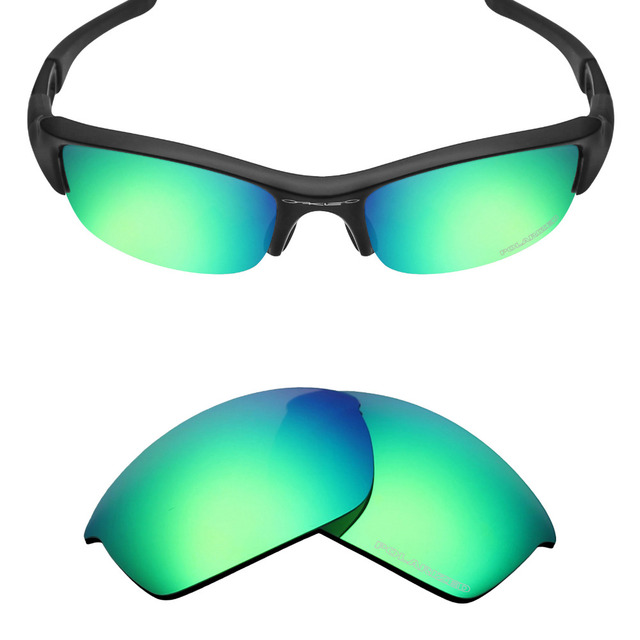 HKUCO Mens Replacement Lenses For Oakley Whisker Sunglasses Emerald Green/Purple Polarized aGobOy