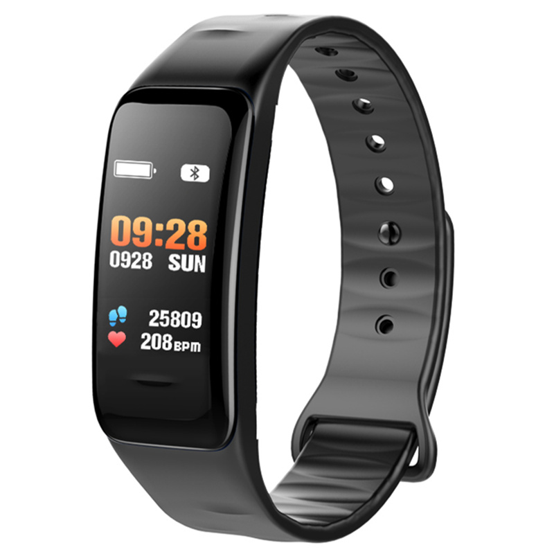 Bluetooth Smart Bracelet Color Screen C1S Wristband Heart Rate Monitor Blood Pressure Measurement Fitness Tracker