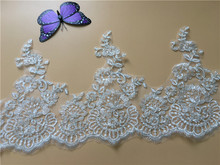 9Yards Quality Corded Embroidery Bridal Lace Trim Wedding Dresses DIY Lace Applique Motif for Bridal Gown Bridal Veil DIY Y11