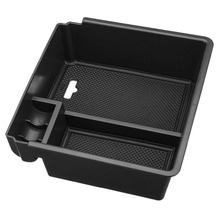 Car Auto Center Console Tray Armrest Storage Box with Mat For Ford Ranger 2012 2013 2014 2015 2016 2017 2018 ABS Plastic Black все цены
