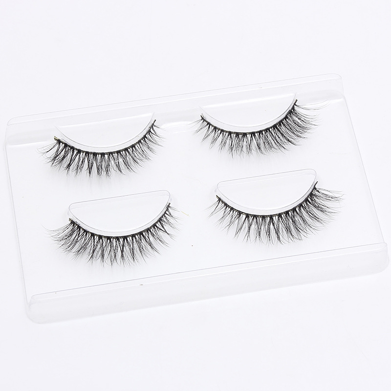 2 Pairs 3d Fiber Hand Made Black Fake Eyelashes Natural Crisscross Long Extension False Eyelashes For Makeup Beauty Stage Makeup To Reduce Body Weight And Prolong Life Beauty & Health Beauty Essentials