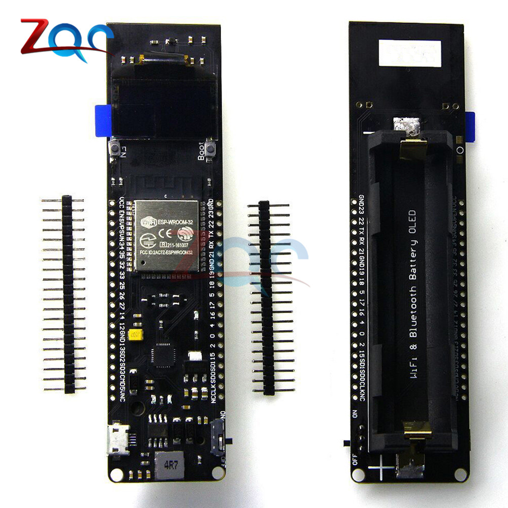 For TTGO ESP32 0.96'' 0.96 inch OLED Display WiFi Bluetooth 18650 Lithium Battery Shield Development Board CP2102 Module ESP8266 30a 3s polymer lithium battery cell charger protection board pcb 18650 li ion lithium battery charging module 12 8 16v