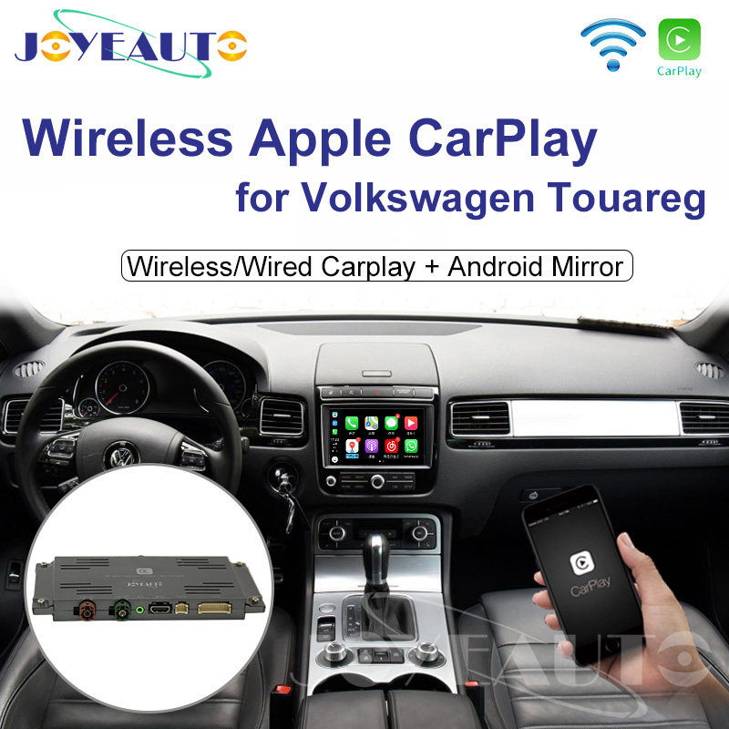 Joyeauto Wifi Wireless Apple Car Play Carplay Retrofit for 2010-2017 Volkswagen with iOS 13 Android Mirror Reverse Camera