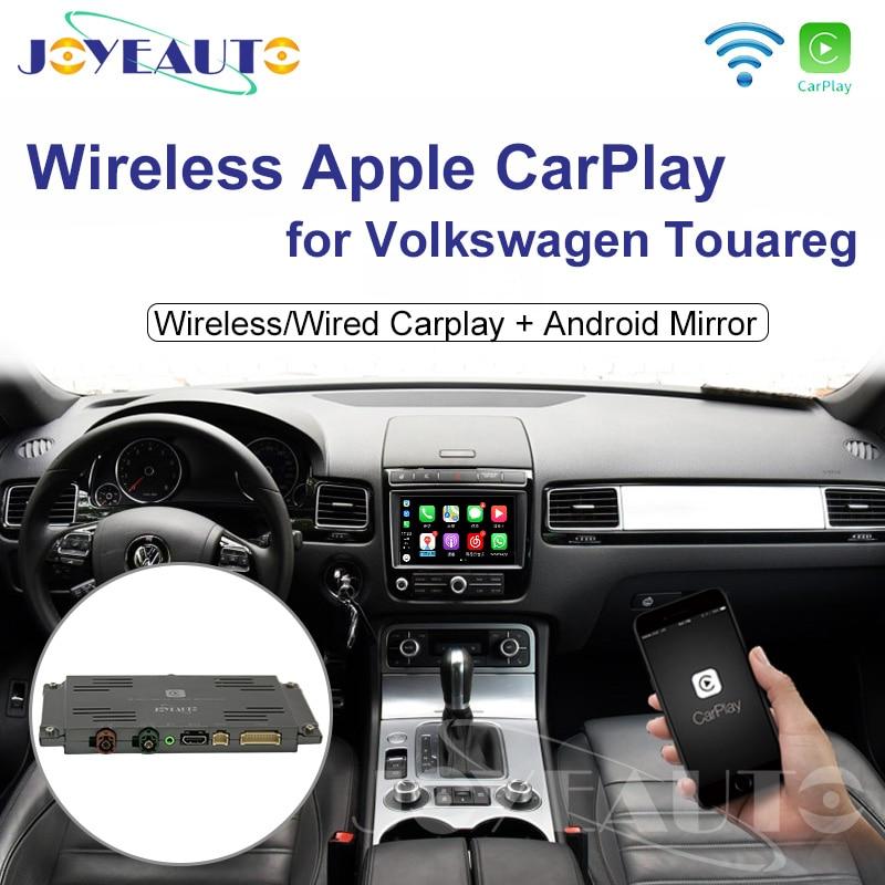 Joyeauto Wifi sans fil Apple voiture jouer Carplay rénovation pour 2010-2017 Volkswagen avec iOS 13 Android miroir caméra inversée