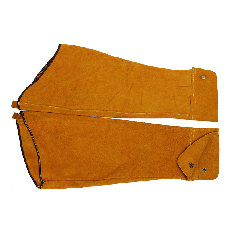 Split Leather Welding Sleeves Protective Heat Arm Sleeve Cowleather Gauntlets Protective Armband for Welding Tools