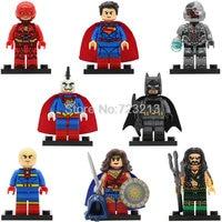 X0167 Super Hero Superman Bizarro Cyborg The Flash Aquaman Scott Free Batman Mr Miracle Building Blocks