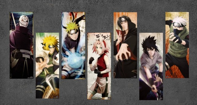 Anime Canvas Cartoon Naruto Cuadros Unframed Oil Painting Wall Art Picture