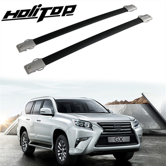 Silver Auto Roof Rack Side Rail Bar Carrier Trim For Lexus RX270 RX350 2011-2015