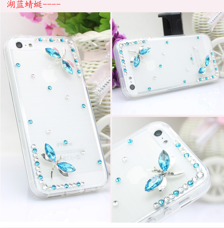 For Huawei P7 case rhinestone mobile phone cases Transparent case protective cover colorful glossy case 6