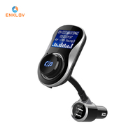 ENKLOV BC26 Large Screen Handsfree Bluetooth Car Kit Calls FM Transmitter Car Charger MP3 Player Car Bluetooth Adapter USB
