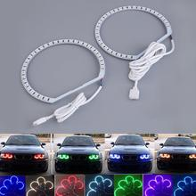 4Pcs RGB 5050 SMD 12V LED Angel Eyes Halo Rings Light for BMW E36 E38 E39 E46