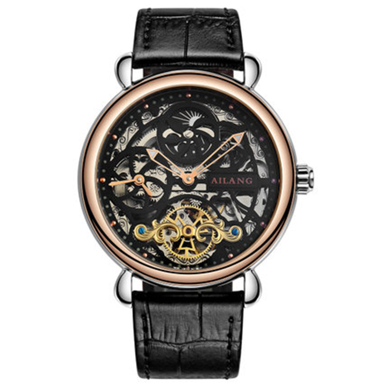 Deluxe automático reloj mecánico dial doble zona horaria función - Relojes para hombres - foto 2
