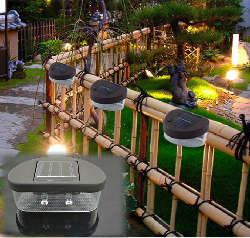 2LED Solar Powered Light Home Outdoor Garden Lamp Wall Mounted Lights Landscape Solar Power Lamp Lawn Lamp Yard Path Light